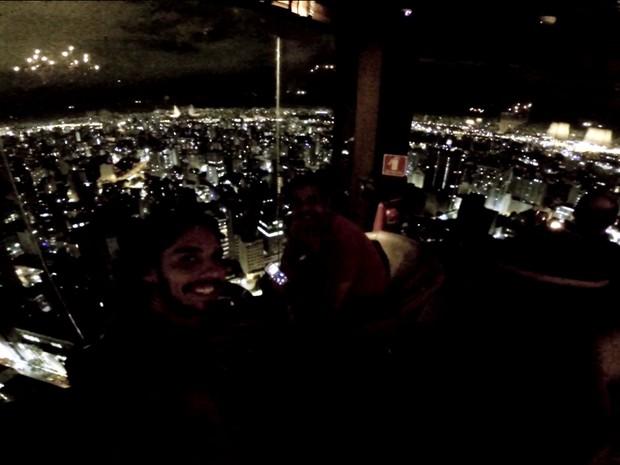 Visão da cidade de São Paulo do alto do Terraço Itália (Foto: Arquivo Pessoal/Arthur Zanella)