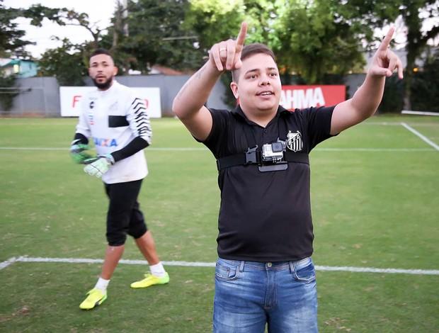 BLOG: Sorteados em promoção, torcedores do Santos treinam com os ídolos no CT Rei Pelé