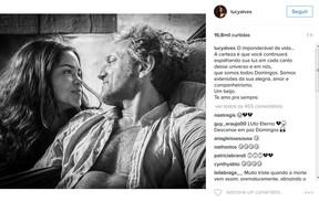 Lucy Alves faz post no instagram em homenagem a Domingos Montagner (Foto: Reprodução/Instagram)