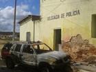 Carro da Polícia Militar é incendiado em Pedra Preta, RN
