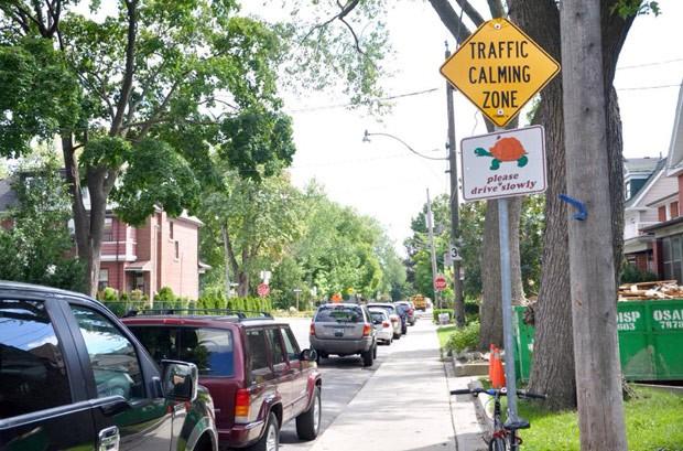 'Placa com tartaruga' alerta motorista para dirigir devagar no Canadá (Foto: Cauê Fabiano/G1)