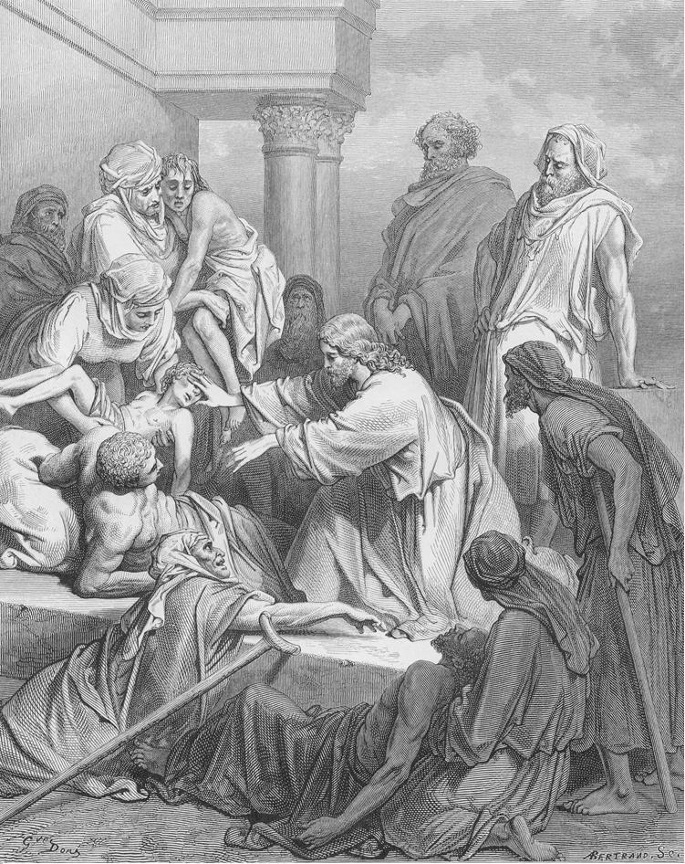 Cena de cura no Evangelho de Mateus, ilustração de Gustave Doré. (Foto: reprodução)
