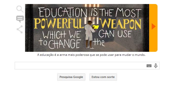 Frases do ativista estão animadas no Doodle (Foto: Reprodução/Google)