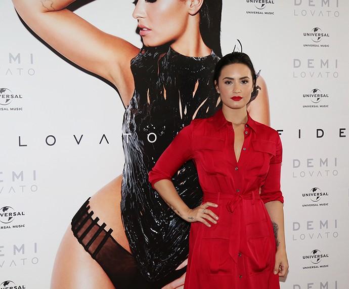 Demi agradece ao público brasileiro pelo carinho (Foto: Carol Caminha/Gshow)