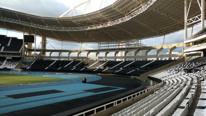 Setor Norte, Engenhão, Estádio Nilton Santos (Foto: Divulgação / Botafogo)