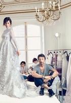 Mulher do ator Benedict Cumberbatch usou vestido de noiva prata; veja foto