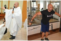 Padre fitness: rotina tem igreja-musculação (Arquivo Pessoal/Murilo Lima)