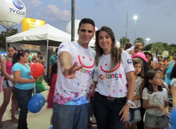 Simone e Helder mostram os melhores momentos do Criança Feliz (Foto: Laurivânia Fernandes/Gshow/PI)