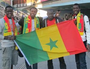Torcedores Senegal Wembley (Foto: Cahê Mota / Globoesporte.com)