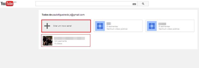 Selecione o canal desejado para vincular à sua página do Google+ (Foto: Reprodução/Paulo Finotti)