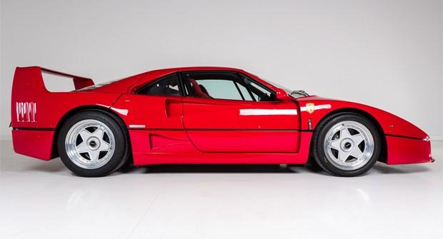Ferrari F40 que foi de Eric Clapton (Foto: Divulgação)