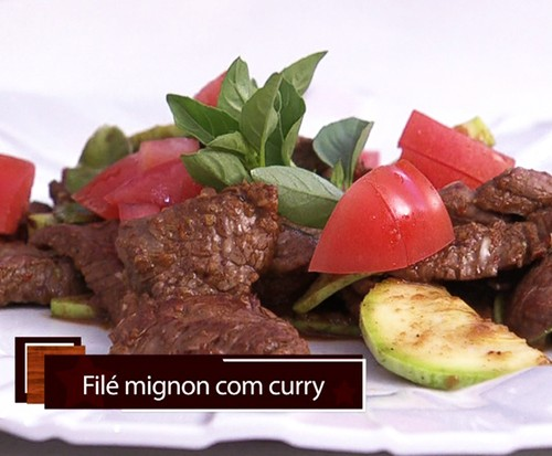 Filé Mignon com Curry