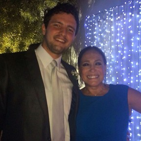 Guilherme e Susana Vieira em casamento de amigos (Foto: Reprodução/Instagram)