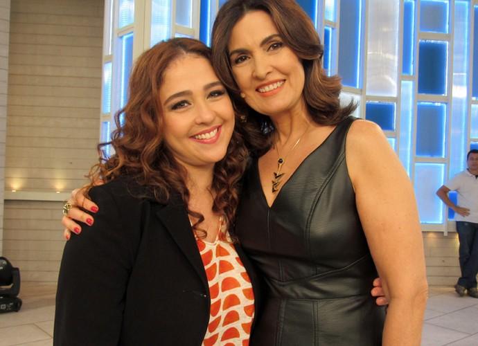 Débora Lamm e Fátima Bernardes (Foto: Priscilla Massena/Gshow)