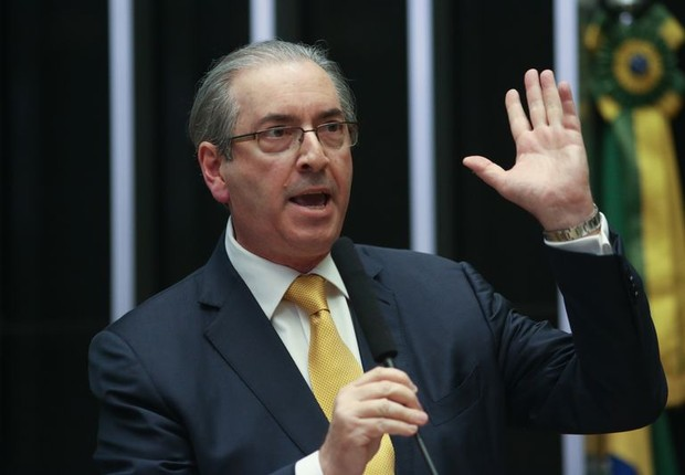 Eduardo Cunha (PMDB-RJ) faz discurso após ser cassado em votação na Câmara dos Deputados (Foto: Fabio Rodrigues Pozzebom/Agência Brasil)