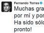 """""""Espero voltar logo"""", afirma Fernando Torres após sair desacordado de jogo"""
