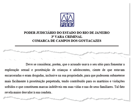 SENTENÇA A juíza Daniela Assumpção, que condenou Nahim (trecho de sua decisão). Antes dela, 17 juízes declararam-se impedidos para julgar o caso (Foto: reprodução)