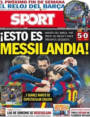 jornal sport barcelona real madrid (Foto: Reprodução)