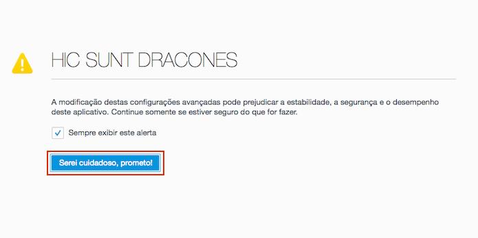 Confirmando que será cuidadoso ao mudar as configurações do Firefox (Foto: Reprodução/Edivaldo Brito)