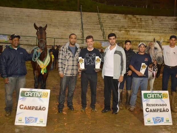 Cavalo mangalarga marchador campeão (Foto: Divulgação Prefeitura de Teresópolis)