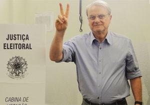 Márcio Lacerda, em Belo Horizonte, foi um dos eleitos em primeiro turno nas capitais. (Foto: Pedro Triginelli/G1)