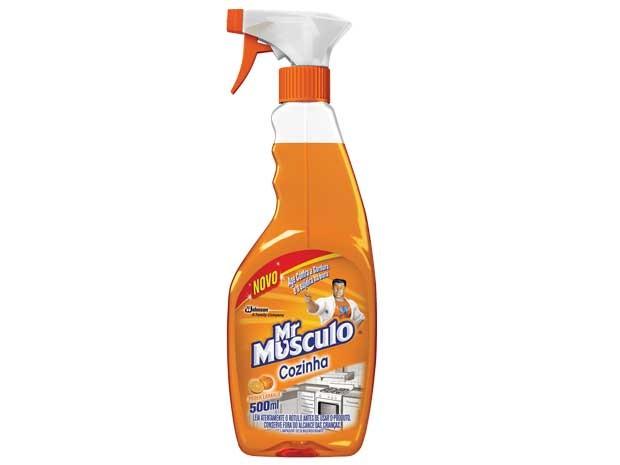 Resultados incriveis na limpeza com Mr.Músculo Cozinha Desengordurante (Foto: Divulgação)