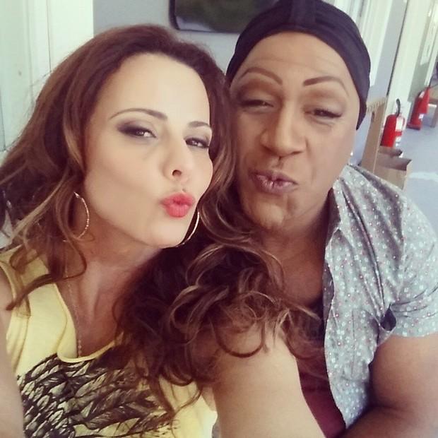 Viviane Araújo e Aílton Graça (Foto: Reprodução/Instagram)