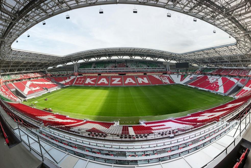 Kazan Arena é uma das principais arenas do torneio (Foto: AFP)