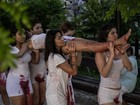 Estudantes protestam em Fortaleza contra estupro coletivo no Rio