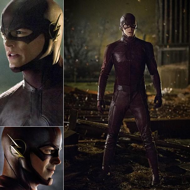 Confira detalhes do uniforme do herói Flash; série estreia na Globo no dia 29 de junho (Foto: Divulgação)
