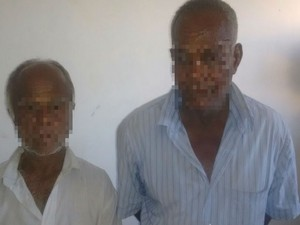 Dupla de idosos foi presa por crime de estelionato na Bahia (Foto: Giro em Ipiaú)