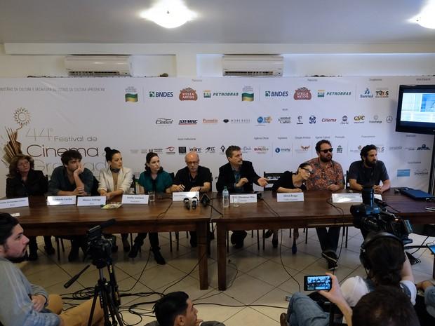 Equipe e elenco de Aquarius falam sobre o filme após exibição em Gramado (RS) (Foto: Edison Vara/Pressphoto)