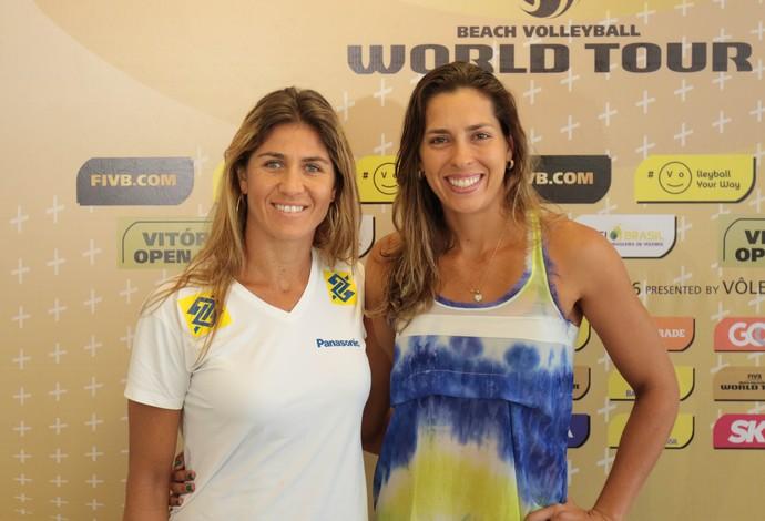 Maria Elisa e Lili Circuito Mundial vitória (Foto: Matheus Vidal/CBV)