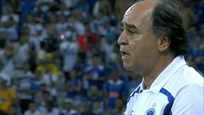Marcelo Oliveira comandou o Cruzeiro na partida contra o ABC nesta quarta-feira (Foto: Reprodução/Sportv)