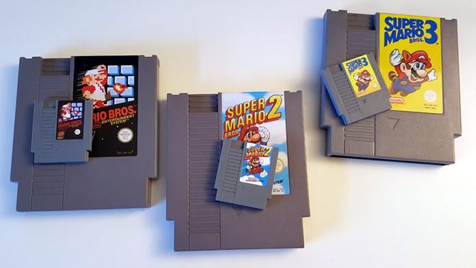 Cartuchos servem para acionar os jogos e reproduzem fielmente os originais (Foto: Divulgação/Daftmike)