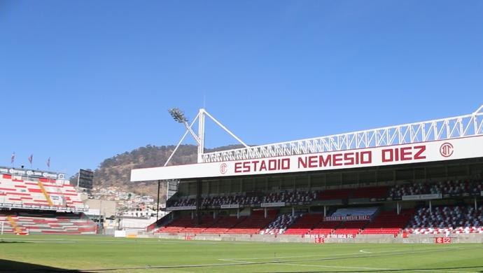 Estádio Nemesio Díez Toluca México Grêmio Libertadores (Foto: Eduardo Moura/GloboEsporte.com)