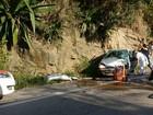 Acidente deixa dois feridos na Rio-Santos em São Sebastião, SP