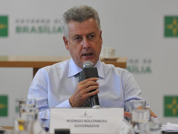 O governador Rodrigo Rollemberg (centro) durante evento nesta quarta-feira (20) no Palácio do Buriti (Foto: Renato Araújo/Agência Brasília)
