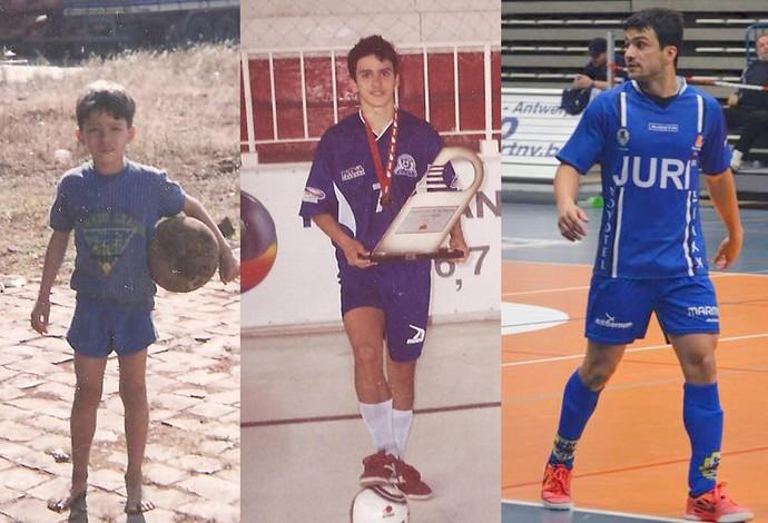 Bruno Barboza Uberaba futsal Bélgica Itália carreira (Foto: Bruno Barboza/ Arquivo Pessoal)