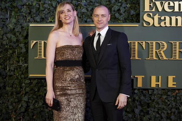 James McAvoy e a esposa, Anne Marie Duff  (Foto: NIKLAS HALLE'N / AFP)