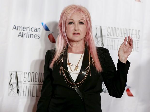 Cyndi Lauper em evento em Nova York, nos Estados Unidos (Foto: Shannon Stapleton/ Reuters)