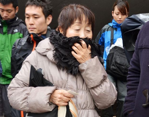 A japonesa Chisako Kakehi, presa suspeita da morte de sete homens com quem se relacionou nos últimos 20 anos, é vista em foto de março deste ano (Foto: Kyodo News/AP)