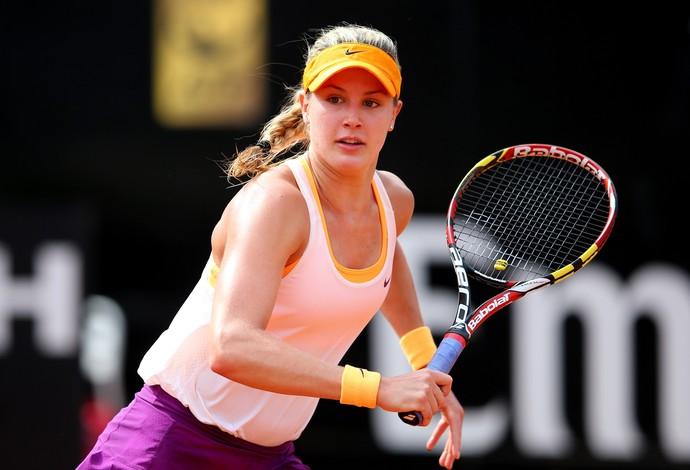 Estrela em ascensão do tênis mundial, Eugenie Bouchard disputou o WTA de Roma (Foto: Getty Images)