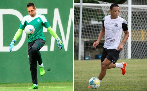Fernando Prass e Ricardo Oliveira se enfrentam no clássico (Foto: reprodução Globoesporte.com)
