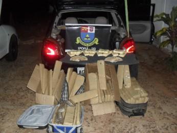 Motorista confessou que levava droga e dinheiro falso escondidos em carro (Foto: Divulgação/PRE)