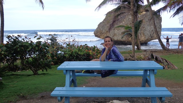 Rosana Valle curtindo as férias em Barbados. (Foto: Arquivo Pessoal)