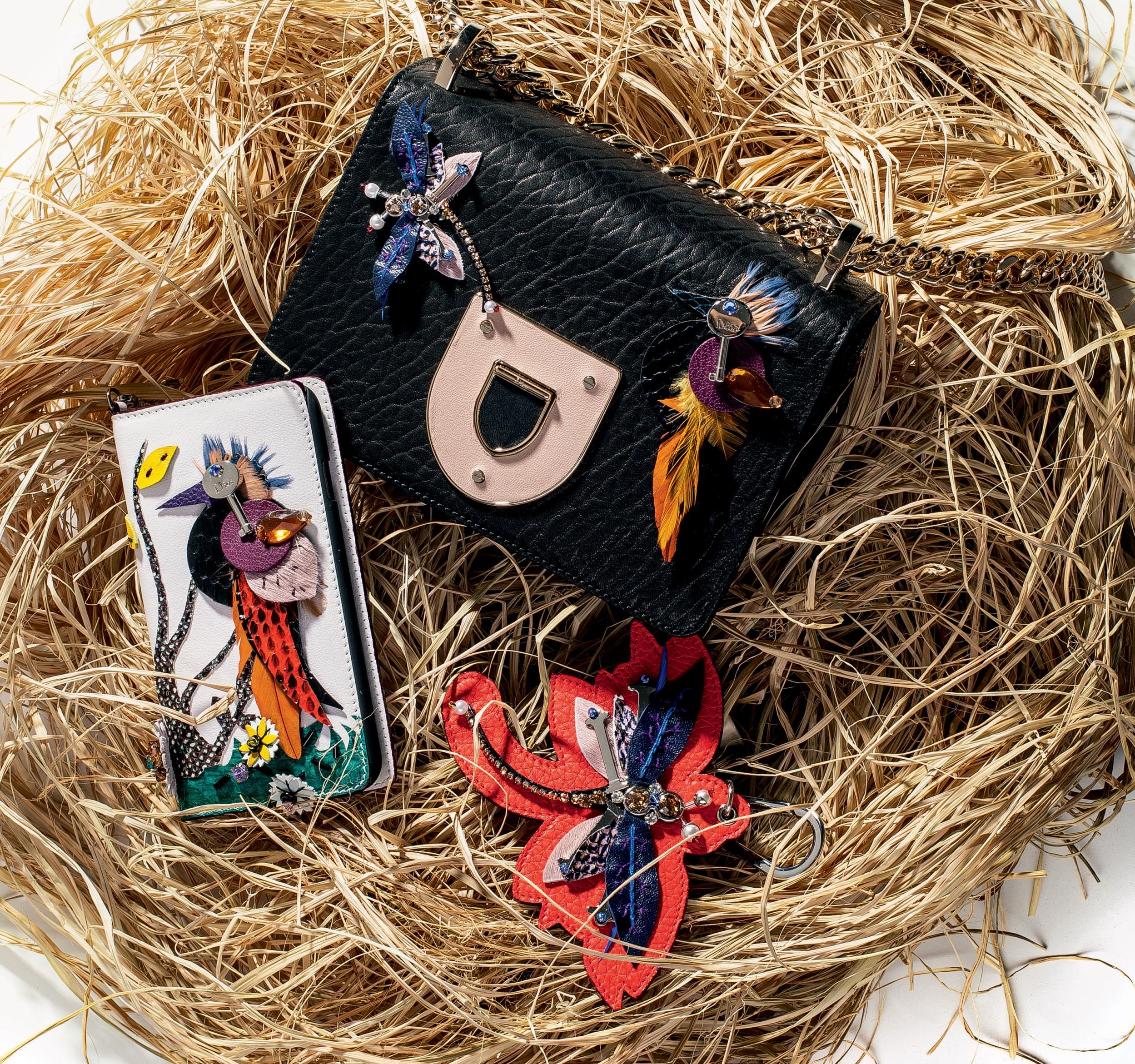 Bolsa Dior R$ 15.500, chaveiro Dior R$ 2.650 e porta-celular Dior R$ 3.500 (Foto: Flavio Battaiola)