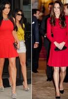 Vestido de Kate Middleton é versão comportada do de Kim Kardashian