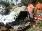 Acidente entre dois carros deixa cinco feridos em rodovia da Paraíba