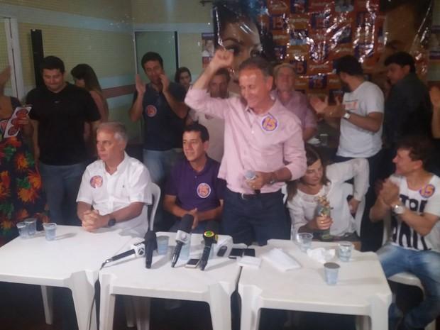Candidato reeleito em Uberaba, Paulo Piau (Foto: Mariana Dias/G1)
